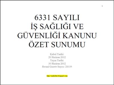 ISG 6331 ( Kısa Bilgilendirme )